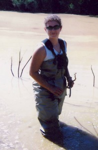 me in Papago in waders