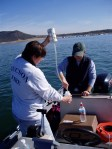 sampling Lake Pleasant