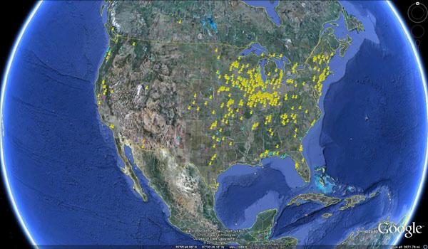 dragonfly swarm map