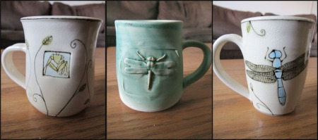 Insect mugs by Catherine Reece