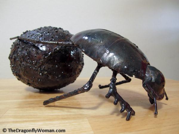 ding beetle sculpture