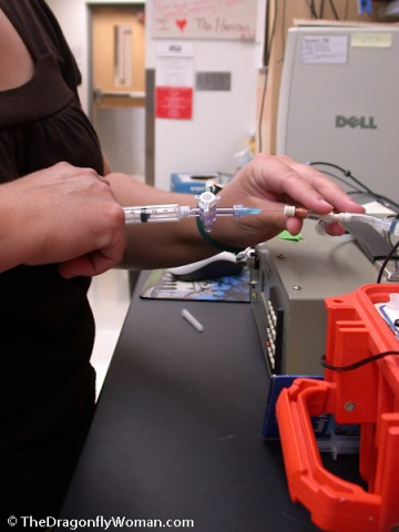 injecting samples