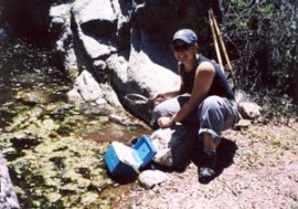 Me collecting in Florida Canyon