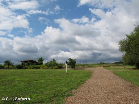 clouds over prairie