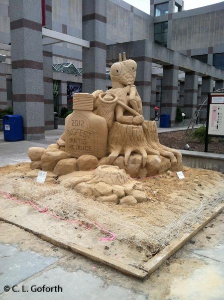 Mantid sculpture