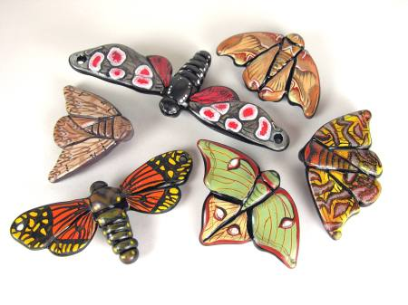 Moth beads by Margaret Zinser